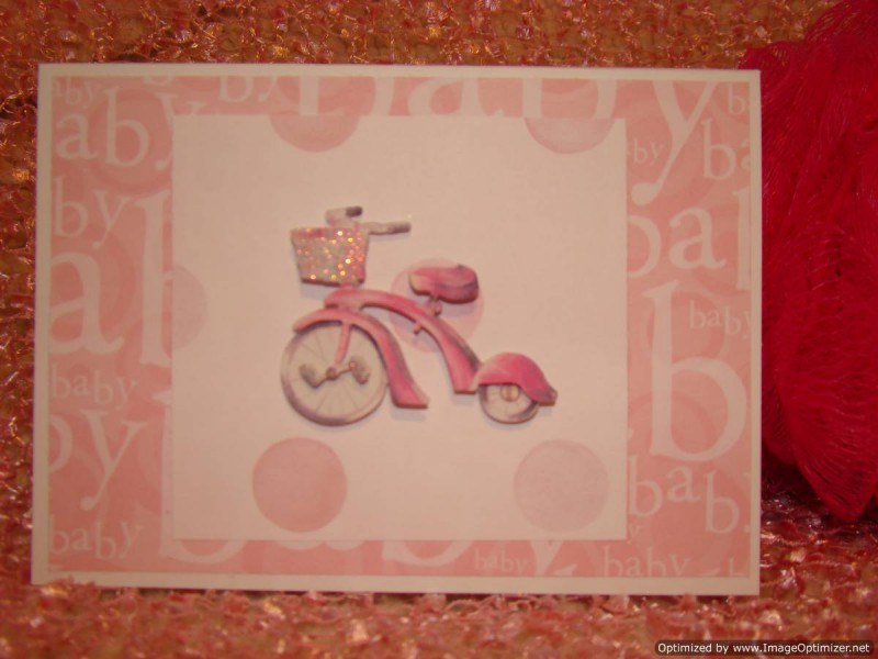 Occasions Baby Pink Tricycle