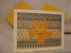Sentiments Love Butterfly Yellow
