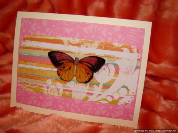 Sentiments Thinking Of You Butterfly Landing