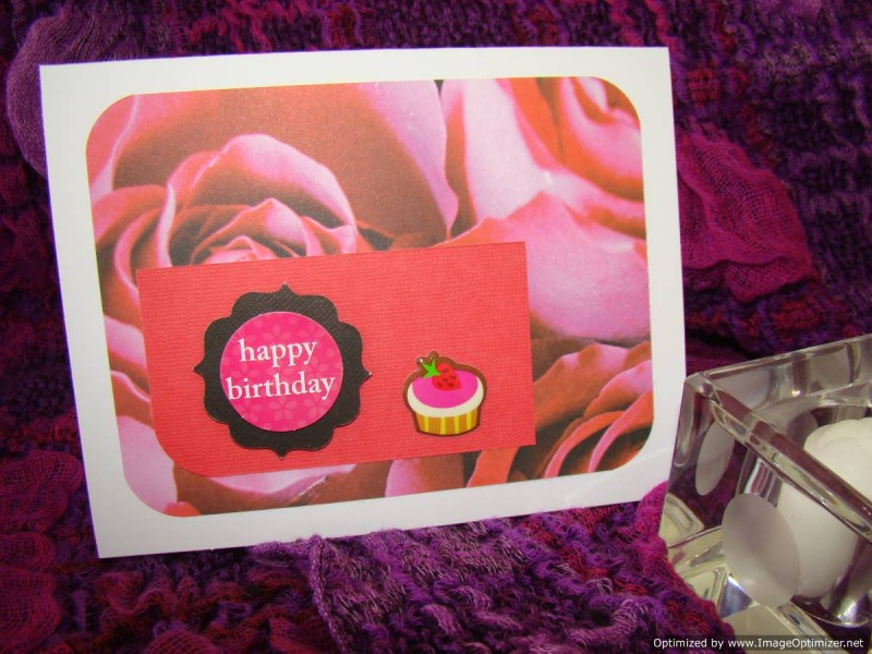 Birthdays Female Roses And Strawberry Cupcake